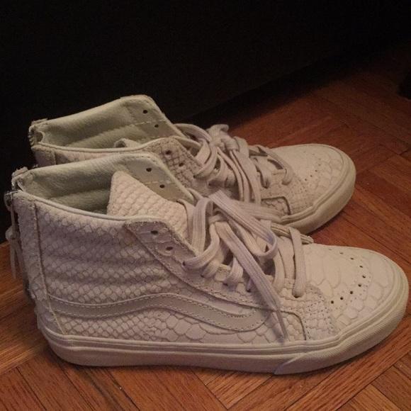 030af1d07e Vans Shoes - Vans Mono Python Sk8-Hi Slim Zip DX- Angora